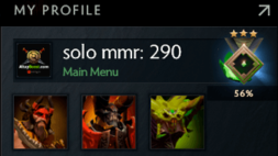 buy dota 2 account, solo mmr is 290 #AFS (1)