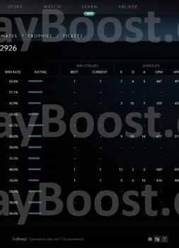 buy dota 2 account, 2926 solo mmr, #AFS (2)